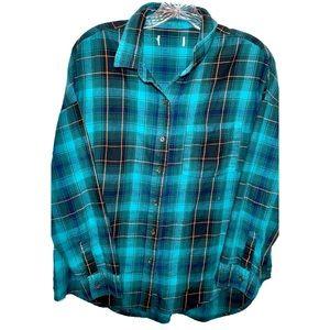 teal lumberjack flannel